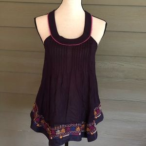 Anthropologie Floreat Sleeveless Top Embroidered